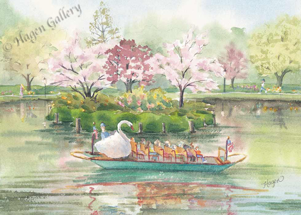 Swanboats in Springtime